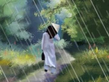 Dựa vào bài Mưa, hãy tả lại trận mưa rào