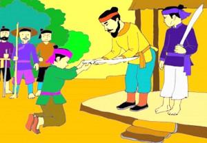 Thanh gươm trong truyện Sự tích Hồ Gươm tự kể chuyện mình