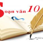 Mục lục soạn văn, soạn bài, học tốt văn 10
