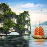 Đề bài:Tả bức tranh vẽ Vịnh Hạ Long
