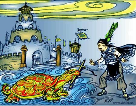 Sau khi tự tử ở giếng Loa Thành, xuống Thuỷ cung, Trọng Thuỷ gặp lại Mị Châu