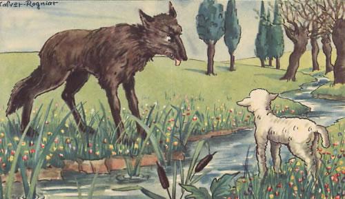 Soạn bài chó sói và cừu trong thơ ngụ ngôn của La Phông Ten