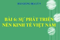 Bài 6: Sự phát triển nền kinh tế Việt Nam