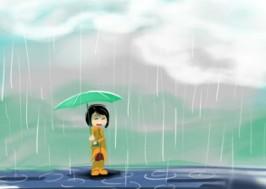 Bạn Quỳnh Liên làm văn tả quang cảnh sau cơn mưa