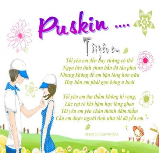 Phân tích bài thơ Tôi yêu em của Pu-Skin