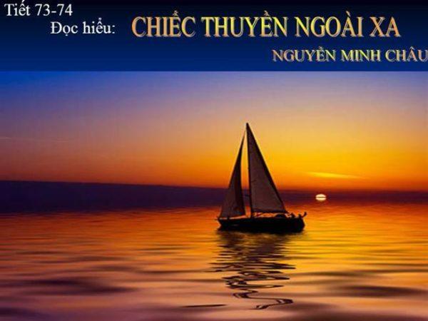 Phân tích tác phẩm Chiếc thuyền ngoài xa của Nguyễn Minh Châu (mẫu 1)