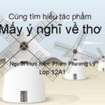 Phân tích tác phẩm Mấy ý nghĩ về thơ của Nguyễn Đình Thi