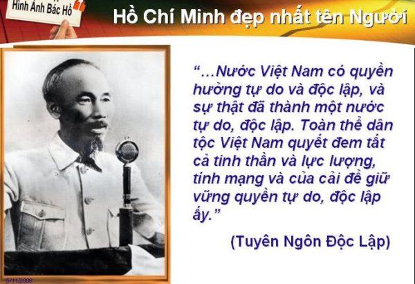 Phân tích tác phẩm Tuyên ngôn độc lập của Hồ Chí Minh