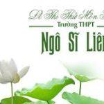 Đề thi thửmôn SinhTHPT Ngô Sĩ Liên, Bắc Giang (Lần 1)