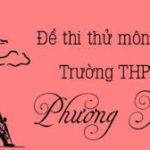 Đề thi thửmôn HóaTHPT Phương Xá, Phú Thọ (Lần 2)