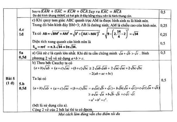 Đề thi thử vào lớp 10 môn Toán THPT Phan Huy Chú Hà Nội năm 2018