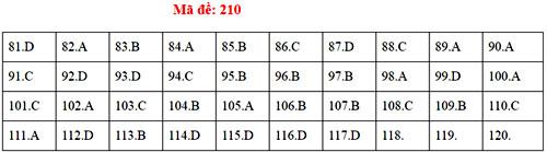 Đáp án 24 mã đề thi Sinh học THPT quốc gia - 9