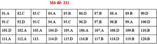 Đáp án 24 mã đề thi Sinh học THPT quốc gia - 10